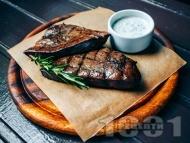 Рецепта Печен крехък телешки дроб на грил тиган или скара